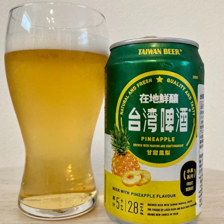台湾ビール パイナップル/台湾啤酒 甘甜鳳梨